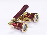 Levenhuk Broadway 325n Opera Glasses Red Theater Binoculars With Led Light And