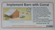 American Model Builders 726 Implement Barn With Corral, Kit Ho Laser Cut