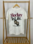 Nwt Vtg 90s Hockey Is Life The Rest Is Just Details Big Ball Sports T-shirt Sz L