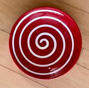 8 Rare Discontinued Sold Out Waechtersbach Cherry Red Swirl Salad Plates