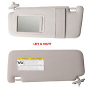 Gray Left And Right Side Sun Visor And Mirror Fit 2009-2016 Toyota Venza W/ Sunroof