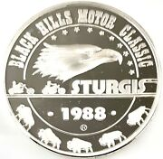1988 Black Hills Motor Classic Sturgis .999 Silver 1 Ozt. With Capsule H1120