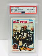 Anthony Munoz 1982 Topps 51 Signed Rc Rookie Autograph Hof 98 Psa/dna Bengals