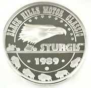 1989 Black Hills Motor Classic Sturgis .999 Silver 1 Ozt. With Capsule 01140