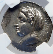 Kos An Island Off Caria Authentic Ancient 345bc Silver Greek Coin Ngc I82635