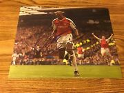 Patrick Vieira Autographed 11x14 Photo Fance Arsenal Juventus Inter Milan Nycfc
