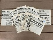 Wwii Italian Newspaper Front Page Headline Covers 42 Pages Nice Condition