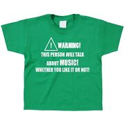 Music Kids Childrenand039s Kidand039s T-shirt Instrument Sing Play Musical Arts Cool Gift