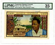 Cameroun Andhellip P-13a Andhellip 5.000 Francs Andhellip Nd 1962 Andhellip Vf+. Pmg 25 Vf+.