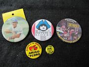 Special Mixed Pin-backs Sale. 5 Pin-backs   Estate Find, No Reserve