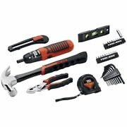 Black And Decker 38-piece Project Kit, Household Tool Set W/ 6v Screwdriver - New