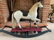 'jacques' - Carousel Type Rocking Horse On Wheels And Rockers - Free Delivery