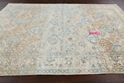 Antique Muted Bakhtiari Distressed Area Rug Hand-knotted Living Room Carpet 7x10