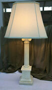 1960s Marbro Mid-century Neoclassical White Marble Ionic Column Table Lamp