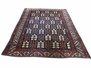 4and0394x5and0399 Navy Antique Farsian Heris With Tree Design Hand-knotted Rug R45938