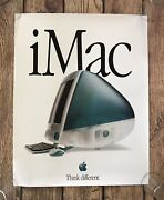 Vintage Apple Imac Computer Poster 22x28 Think Different New Dealer Edition