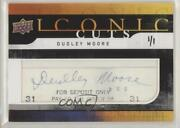 2008 Upper Deck Iconic Cuts Dudley Moore Ud-ic Auto