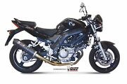 Mivv Exhaust For Suzuki Sv 650 2009 Oval Carbon With Carbon Cap Slip-on Kat