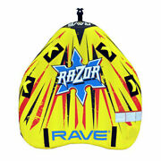 Rave Sports Razor Inflatable 2 Person Rider Towable Boat Lake Water Tube Raft