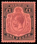 Bermuda 1918 Kgv Andpound1 Shows Row 1/12 Break In Scroll Variety Superb Mnh. Sg 55a.