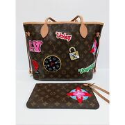 😳🌹authentic Louis Vuitton Monogram Neverfull Mm Stamps Limited + Pochette🌹