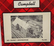 Campbell Scale Models Kit 401 Quincy Enginehouse - Ho Scale