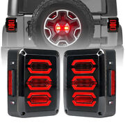 Smoked Avenger Led Tail Lights For Jeep Wrangler 07-18 Jk/jku 2and4 Door Unlimited