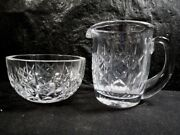 Waterford Crystal Creamer And Open Sugar - Marked On Base - No Damage 2