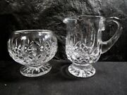Waterford Crystal Creamer And Open Sugar - Marked On Base - No Damage 1