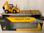 ✅k-line By Lionel Ringling Bros Barnum Bailey Flatcar And Front End Loader / Poles
