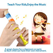 2 Pcs Small Wooden Recorders For Toddlers Colorful Piccolo Flute For Rhythm For