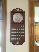 Precious Moments Wood Wall Perpetual Calendar Collection With 12 Month Plates.