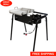 Double Burner Propane Gas Outdoor Griddle Camping Stove Grill Lp Stove Range 32