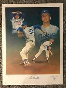 Don Drysdale 18x24 Signed Christopher Paluso /50 Lithograph/poster Auto Psa/dna
