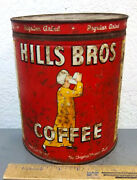 Vintage Hills Bros 1936 4 Pound Coffee Tin Empty Old Cabin Find Great Colors