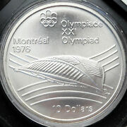 1976 Canada Montreal Olympics Velodrome For Cycling Huge Silver Coin I82830