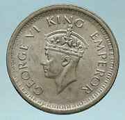 1944 India Uk States King George Vi Old Genuine Silver Rupee Indian Coin I83213