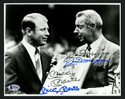 Mickey Mantle And Joe Dimaggio Autographed 8x10 Photo Yankees Beckett A21421