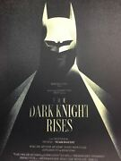 The Dark Knight Rises - 2012 Olly Moss Poster San Diego, Ca Comic-con