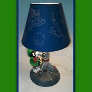 Exclusive Marvin The Martian Desk Lamp And Shade Warner Bros Store Rocket Ship Lot