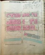 1923 Pittsburgh Pa Baltimore And Ohio Station Somers Fitler And Todd Co Atlas Map