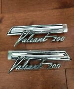 60and039s Plymouth Valiant 200 Genuine Rear Quarter Panel Emblems Pair