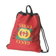 Pre-owned 516639 Backpack Red Leather Free Shipping