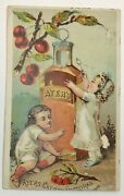Ayers Cherry Pectoral Victorian Trade Card Lowell Ma Bottle Quack Medicine Cure