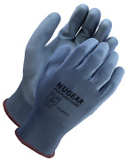 12 Pairs Nugear Polyurethane Pu Palm Coated Protective Safety Work Gloves