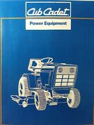 Cub Cadet Ccc Garden Tractor 45 Snow Thrower Implement 450 551 451 Parts Manual