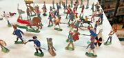 Lot Of Lead Toy Soldiers 52 Ct.