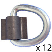 12- D Rings 3/8 Weld On 5000 Lb. For Atv Motorcycle Rope Trailer Truck Tie Down