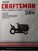 Sears Craftsman 15hp Lawn Tractor 42 Hydrostatic Owner And Parts Manual 917.252610