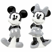 Disney Mickey And Minnie Grey Salt And Pepper Shakers White